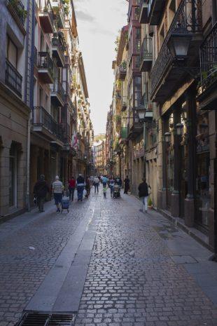 Cale del casco histórico de Bilbao.