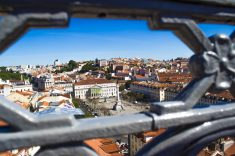 Vista de Lisboa desde el mirador del Elevador de Sta. Justa.