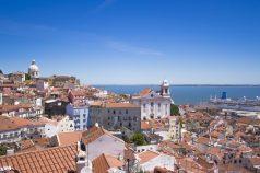 El río Tajo a su paso por Lisboa.