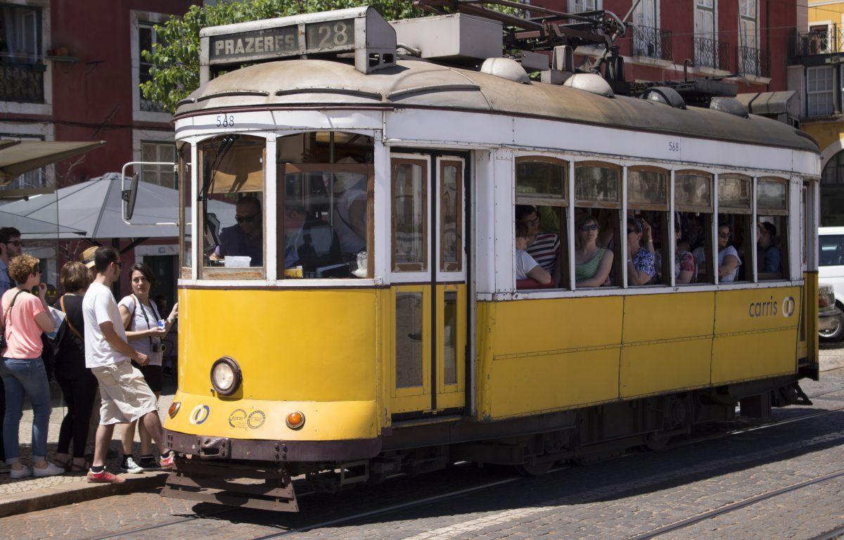 El tranvía nº 28 (Lisboa).