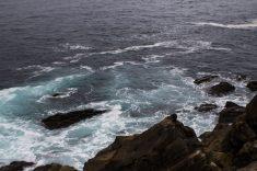 Rocas en la bahía de San Sebastián.