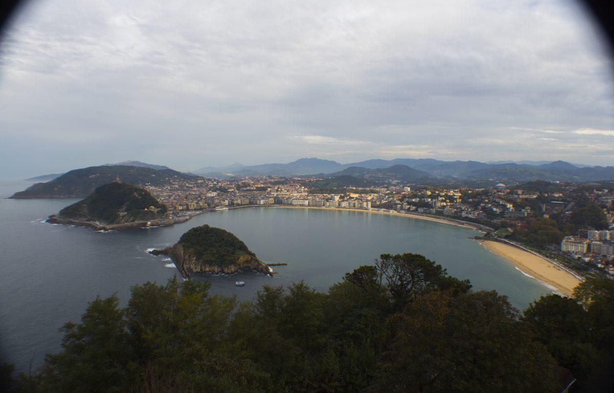 La bahía de la Concha vista desde Monte Igueldo (San Sebastián).