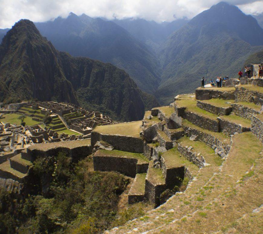 Machu Picchu desde una de las terrazas superiores de la ciudadela.